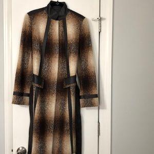 Lafayette 148 New York Alpaca Plaid Coat